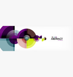 fantastic circle modern geometric vector image