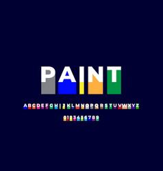 Font style colorful drop paint effect design vector
