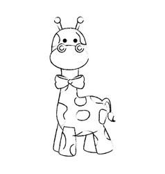 giraffe cute cartoon vector image