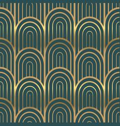 Gold art deco vintage fashion seamless pattern vector