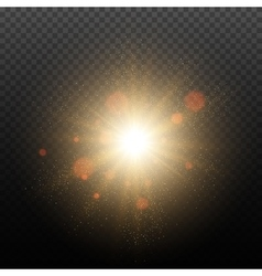 Golden Glow light effect vector image