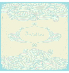 Greeting cards with swirls in a pastel colors vector image