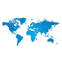 Hi detail blue political world map vector
