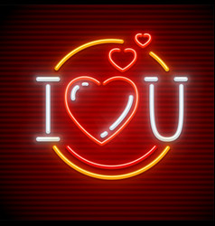 I love you message made vector