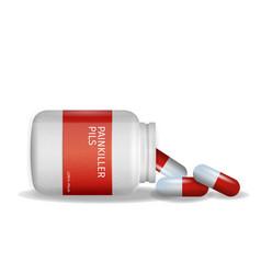 Image packaging painkiller pils white background vector