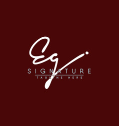 Initial letter eg logo - handwritten signature vector