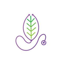 Leaf logo design template set vector