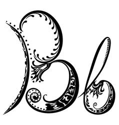 Letter B b vector