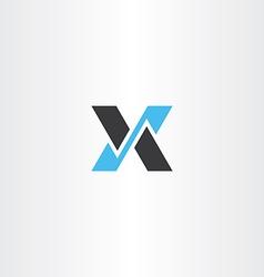 logo logotype black blue letter x icon vector image