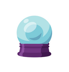 Magic ball flat crystal vector