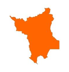 Map of Roraima vector image