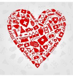 medical symbols heart vector image
