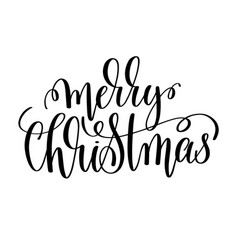 Merry christmas hand lettering inscription to vector