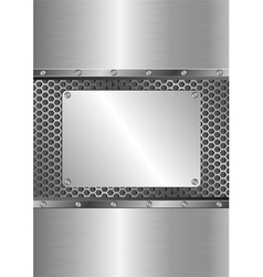 Metallic background with steel plate vector