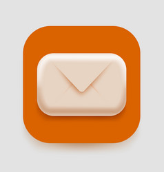 modern 3d email icon post spam or letter concept vector image