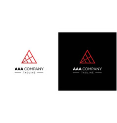 Modern and unique aaa letter initials logo design vector