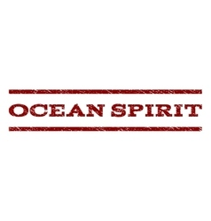 Ocean Spirit Watermark Stamp vector image
