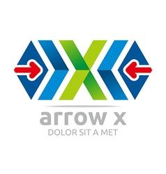 Penta house arrow design icon symbol vector