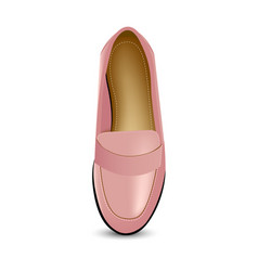 pink shoes loafers vector image