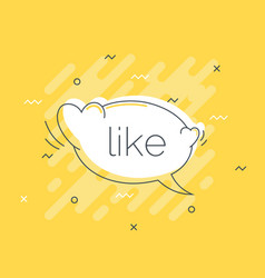 quick tips badge with like speech bubble trendy vector image