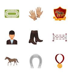 Races on horseback hippodrome horse racing and vector