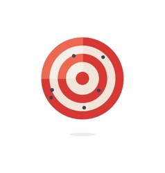 Red darts target on white background vector