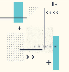 Retro abstract geometric background the poster vector