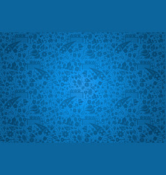 Russian culture icon blue background template vector