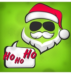 Santa Claus hipster style vector image
