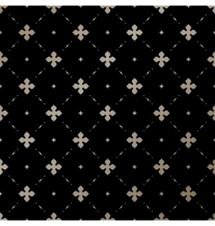 Seamless gold English pattern on a black vector