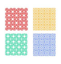 Seamless islamic pattern geometric art vector
