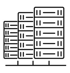 Server data icon outline style vector