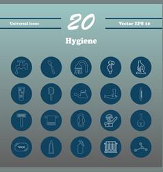 Set line icons hygiene theme vector