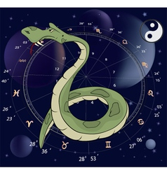 Snake Horoscope animal sign vector
