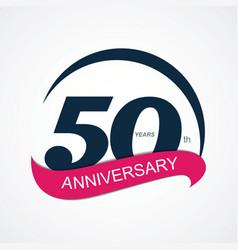 Template Logo 50 Anniversary vector