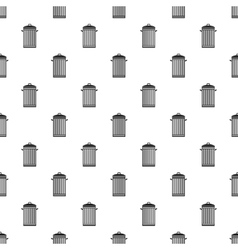 Trash can with lid pattern simple style vector