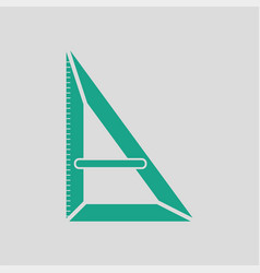 triangle icon vector image