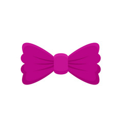 Violet bow tie icon flat style vector