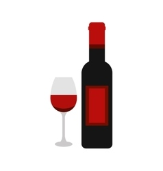 wine bottle drink isolated icon vector image