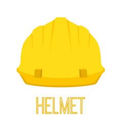 yellow helmet work toolcartoon flat style vector image vector image