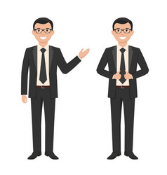 a young businessman vector image vector image