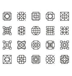 abstract geometric shape 13 vector image