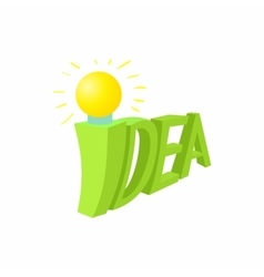 Idea icon cartoon style vector image