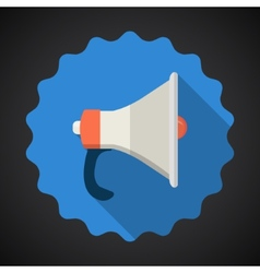 Police Voice Amplifier Amp Flat icon background vector image