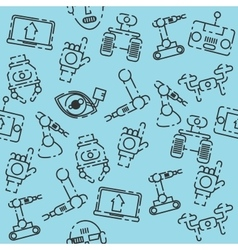 Robotic set pattern vector image