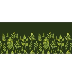 Textured green Leaves Horizontal Seamless Pattern vector image vector image