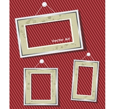 antique picture frames vector image vector image