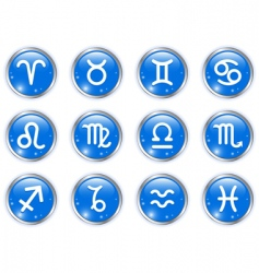circle buttons with zodiac signs vector image