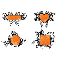 orange banner vector image