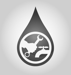 Repair plumbing drop vector image vector image